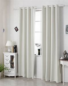 Rideau Occultant Thermique : 1 rideau opaque occultant oeillets rideau thermique ~ Premium-room.com Idées de Décoration