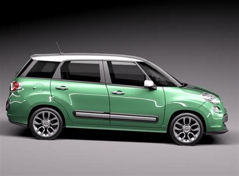Fiat 500l Models by Fiat 500l Living 2014 3d Model Max Obj 3ds Fbx C4d Lwo Lw
