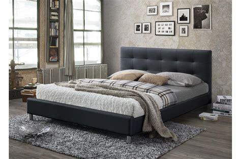 Tête de lit nargis 160 cm en bois de manguer cérusé intérieur canné. Lit Noir Avec Tête De Lit Capitonnée 160 EVA - Lit Adulte Pas Cher