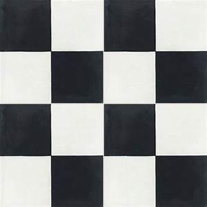 carreau de ciment sol et mur blanc et noir damier l20 x l With carreau ciment noir et blanc