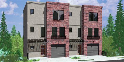 3 townhouse floor plans multi family sloping lot plans hillside plans daylight
