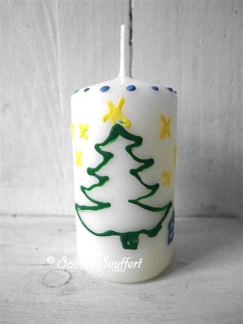 farben für kerzen bemalen diy f 252 r weihnachten kerzen bemalen kinder basteln weihnachtsgeschenke sabine seyffert