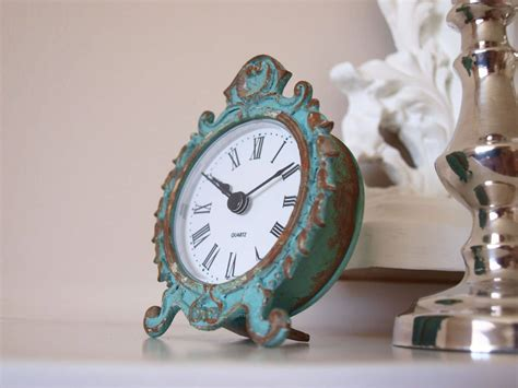 shabby chic mantle clock shabby chic clocks oscars boutique