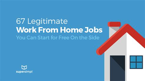 legitimate work from home 67 legitimate work from home jobs you can start for free on the side