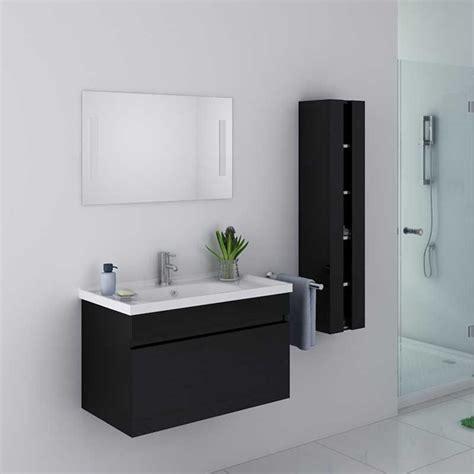 meuble de salle de bain noir brillant meuble de salle de