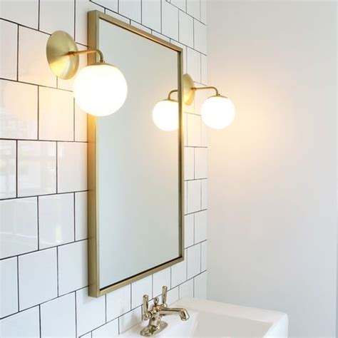 Brushed Nickel And Gold Bathroom Fixtures by Alto Sconce 6 In 2019 S P A C E S Bathroom Sconces
