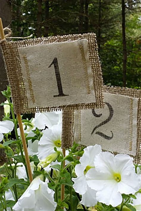 Burlap Table Numbers (Page 1 of 1) Wedding Products from
