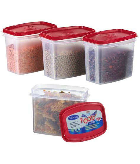 storage containers for the kitchen primeway kitchen storage food containers 4 pcs set 8368
