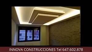 INNOVA CONSTRUCCIONES FALSO TECHO PLADUR CON ILUMINACION LED YouTube