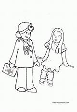 Coloring Doctor Pages Popular Library Clipart Clip Coloringhome Line sketch template