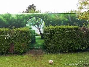 Mur Trompe L Oeil : mur en trompe l 39 oeil ouverture de jardin ~ Melissatoandfro.com Idées de Décoration