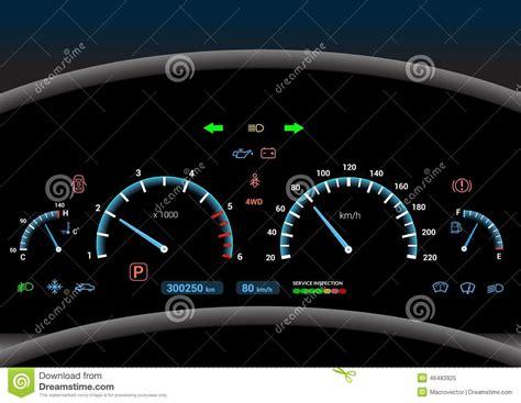 Car Dashboard Background Stock Vector