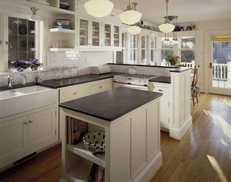 White Soapstone Countertops Kitchen Traditional With None
