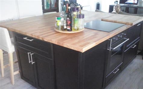 customiser cuisine en bois rénovation de cuisine avec plans de travail en hêtre