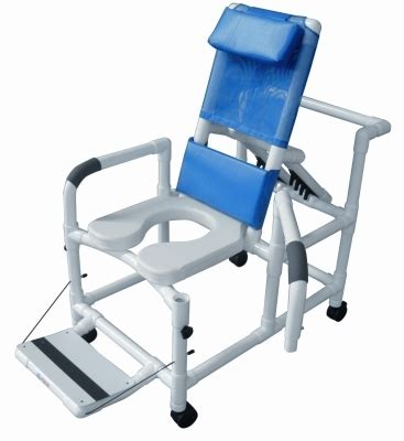 pvc reclining shower chair by graham field