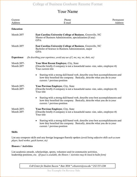 Recent Graduate Resume Template by College Graduate Md Rafik Resume Exles Resume