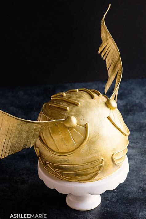 harry potter snitch cake tutorial ashlee marie real