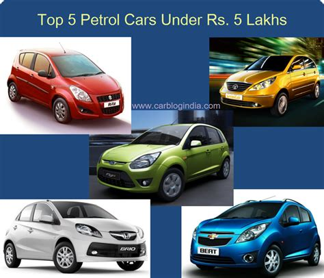 Top 5 Petrol Cars In India Under Rs 5 Lakh Compared In