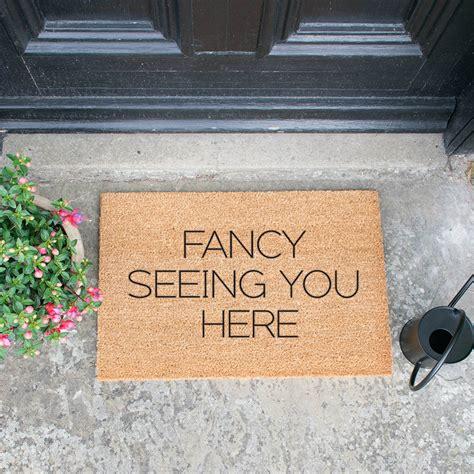 buy doormats buy artsy doormats fancy seeing you here door mat amara