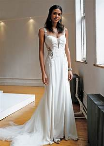 Galina Signature Spaghetti Strap Fit To Flare Wedding Gown