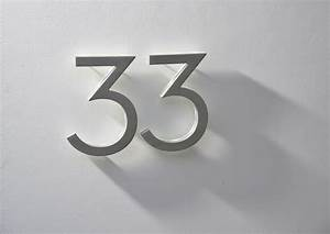 modern 8quot neutra house numbers led backlit luxello With neutra house letters