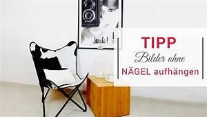Bilder Ohne Nagel Aufhängen : bilder ohne n gel aufh ngen mit montagestripes youtube ~ Orissabook.com Haus und Dekorationen