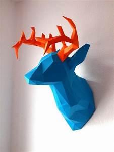Tete D Animal Murale : decoration murale origami ~ Teatrodelosmanantiales.com Idées de Décoration
