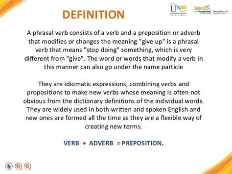 Presentacion Phrasal Verbs A Camero