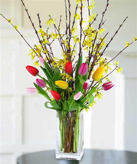 forsythia flower arrangements tulips forsythia floral arrangements coast to coast flowers