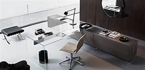 Gallotti Radice : transparent tempered glass office desk air by gallotti radice ~ Orissabook.com Haus und Dekorationen