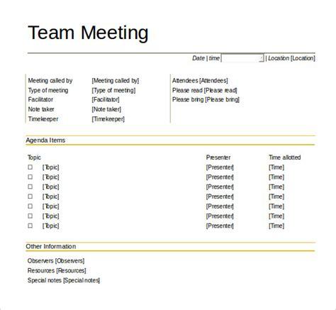 team meeting agenda template 50 meeting agenda templates pdf doc free premium templates