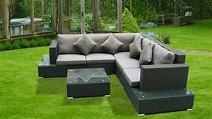 Salon Jardin Angle : meuble de jardin exterieur ~ Teatrodelosmanantiales.com Idées de Décoration