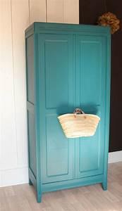 Armoire Chambre Enfant : armoire parisienne vintage bleu annees 50 gris pigeon trendy little ~ Teatrodelosmanantiales.com Idées de Décoration