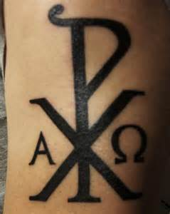 Chi Rho Alpha Omega Symbol Tattoo