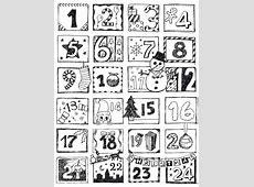 Coloring Advent Calendar 2017 Calendar Printable 2018