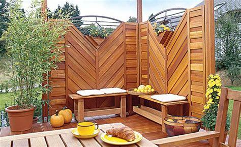 Bauplaene Fuer Den Selbstgebauten Balkon by Sichtschutz Terrasse Outdoor Sichtschutz Terrasse