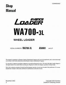 Komatsu Wheel Loader Wa700