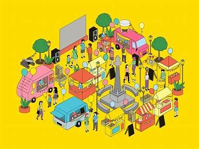 Festival Illustration Dribbble