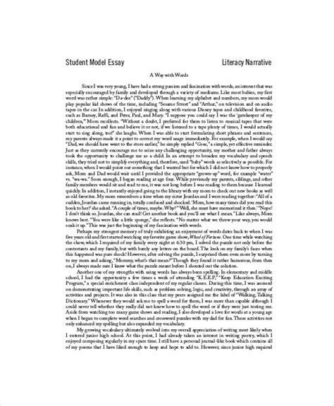 Persuasive Essay Student Models by 7 Sle Student Essays Sle Templates