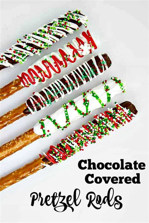 Chocolate Covered Pretzel Rods • The Wicked Noodle