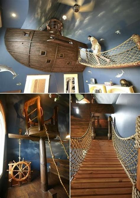 Pirate Ship Interior Design For 6 Year Boy by A Pirate Bedroom How Would You Make The Bed Or Clean