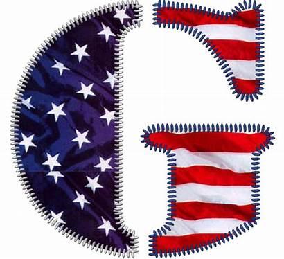 Patriotic Alphabet Usa Clipart Flag Letter Popsicle