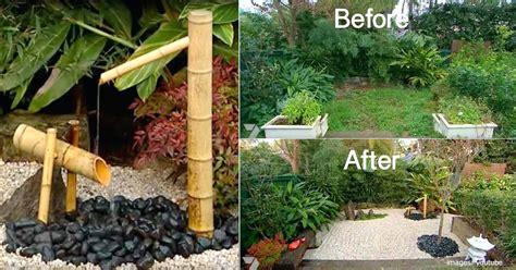 small japanese garden transforms  backyard  zen