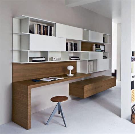 bureau contemporain bois bureau contemporain en bois avec étagère alterno