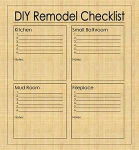 diy remodel checklist With diy to do list template