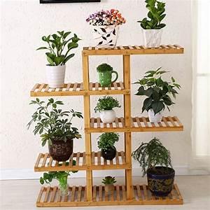 Support Pot De Fleur : support en bois soutien de bambou support pot de fleur ~ Dailycaller-alerts.com Idées de Décoration