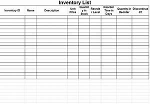 Inventory Sheet Template Inventory Sheets Template