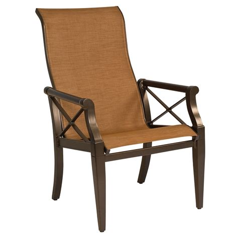 woodard andover sling high back dining arm chair 3q0425