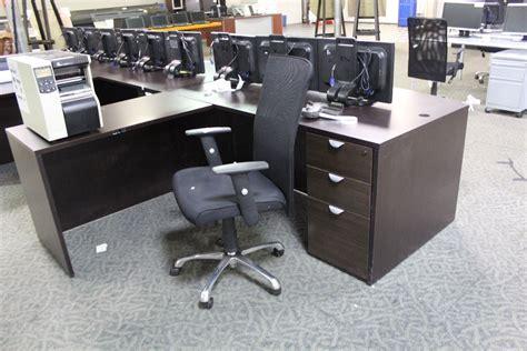 reversible l shaped desk espresso 6 39 l shaped reversible executive desk