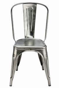 Chaise En Acier : chaise empilable a acier brut pour l 39 int rieur acier brut verni brillant tolix ~ Teatrodelosmanantiales.com Idées de Décoration